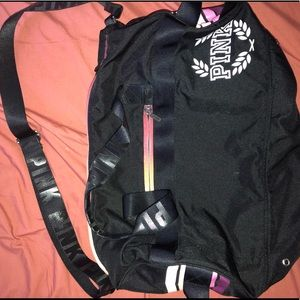 Vs pink duffle bag